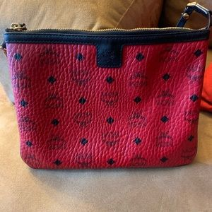 MCM Red large pouch